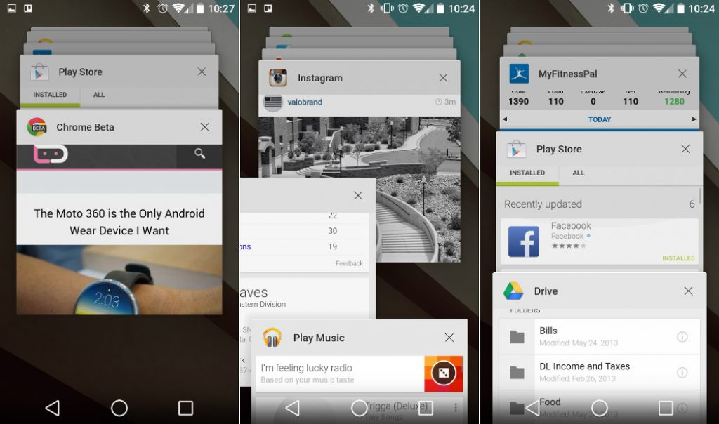 Multitask in Android Lollipop