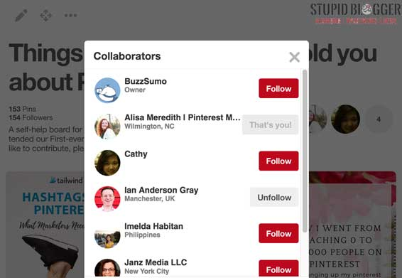 Pinterest Group Join