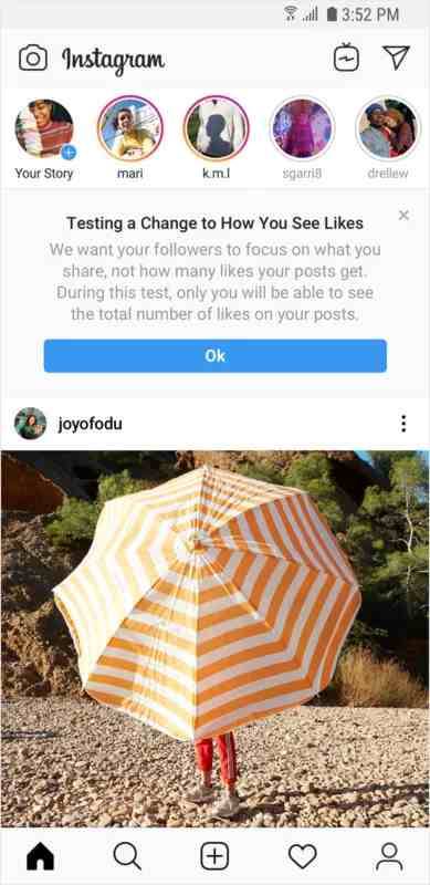 instagram to hide user like counts