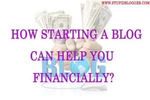 How starting a blog can help you financially