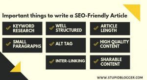 Important things to write a SEO-Friendly article