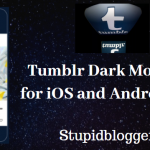 Tumblr Dark mode