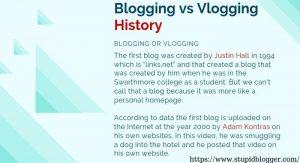 Blogging vs Vlogging History