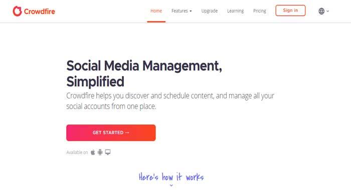crowdfire social media marketing tool