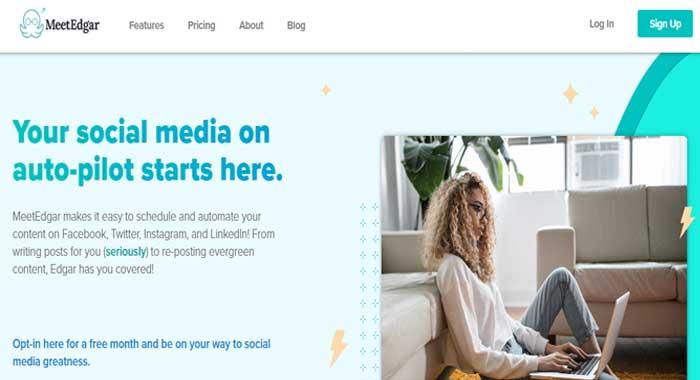 Meet Edgar social media marketing tool