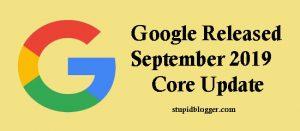 Google Released 2019 core update