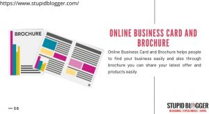 Online business card helps to boost the business