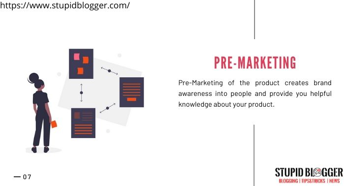 Pre-marketing of your product