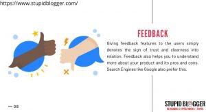 Start Taking feedback from customer
