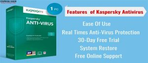 Installation steps of kaspersky