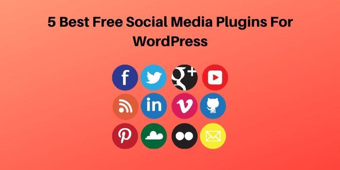 free social media plugins for wordpress
