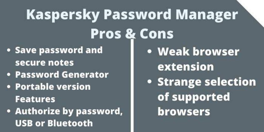 Kaspersky Password Manager Pros & Cons