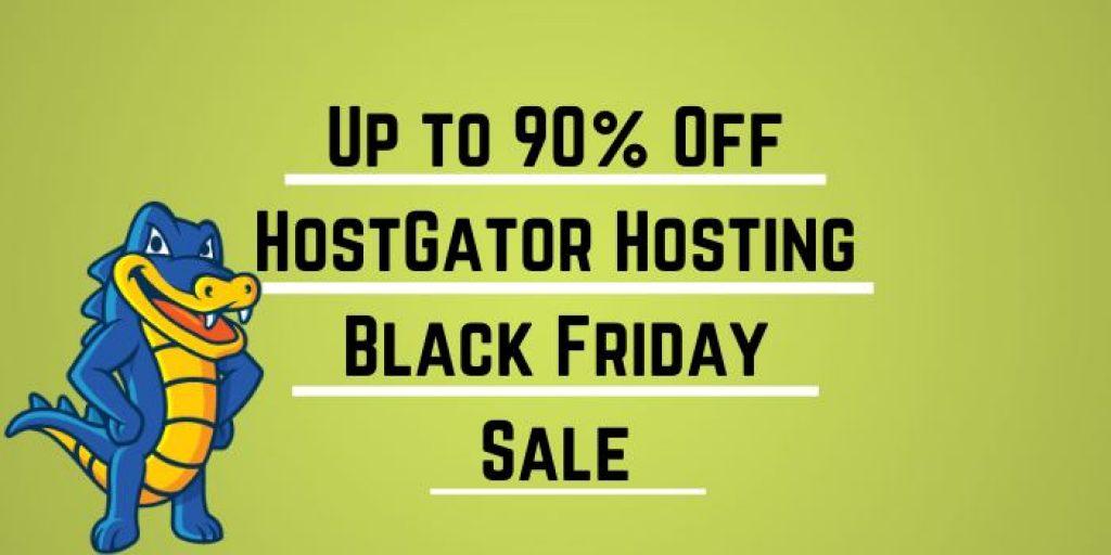 Up to 90% Off HostGator Hosting Black Friday Sale