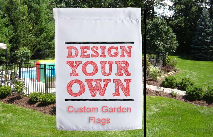 beautiful custom garden flags