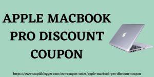 Apple MacBook Pro Discount Coupon www.stupidblogger.com