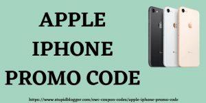 Apple iPhone Promo Code www.stupidblogger.com
