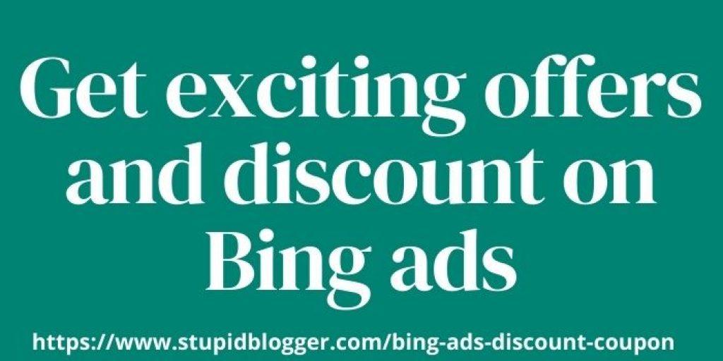 Bing ads discount voucher www.webtechcoupons.com