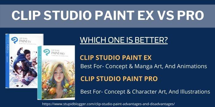 Clip studio paint ex vs pro comparison