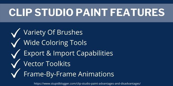 Clip studio paint key features