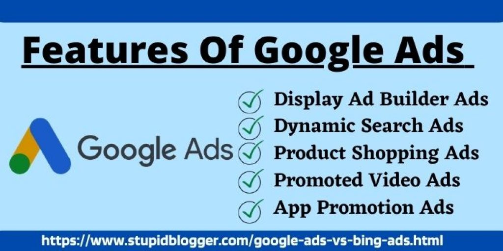 Features of Bing ads vs google ads