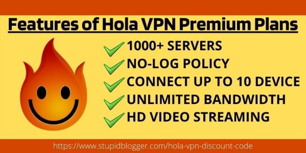 Features of Hola VPN Premium Plans