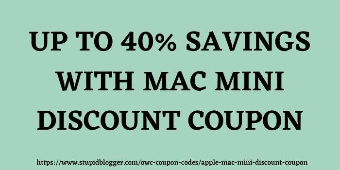OWC Mac Mini Discount Code