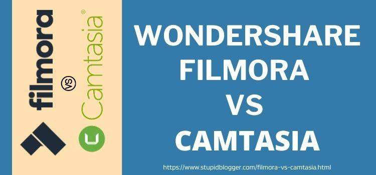 Wondershare Filmora vs camtasia