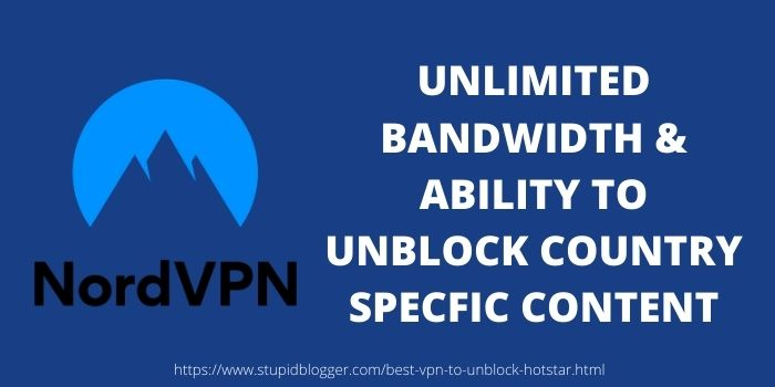 Best VPN for Hotstar NordVPN
