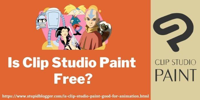 Is Clip Studio Paint Free