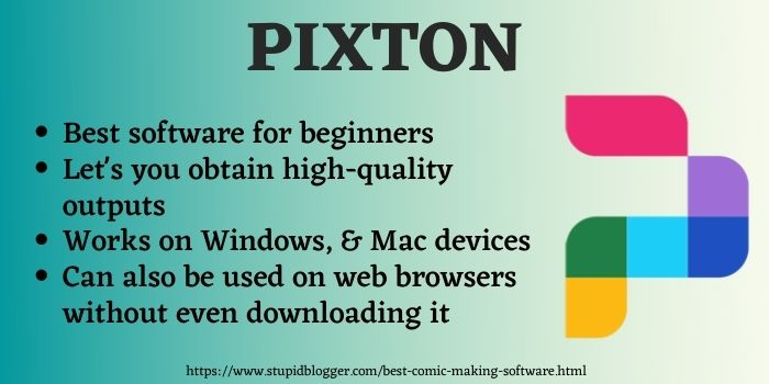 Pixton best comic making software
