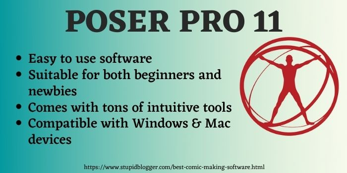 Poser Pro 11 Best comic creation software