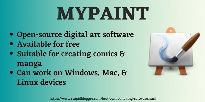 best comic creating software MyPaint