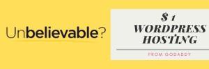 $1 Wordpress Hosting Offer Banner Small