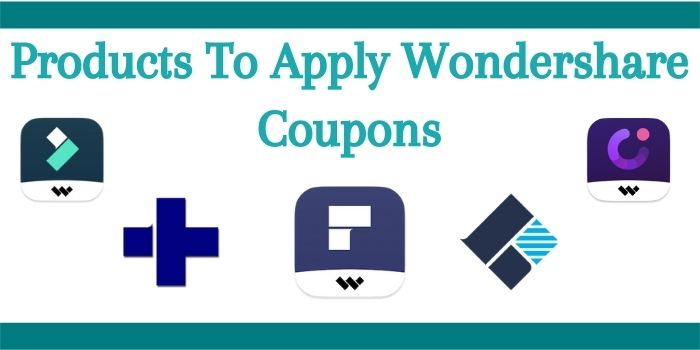 Products on which you can get Wondershare discount