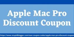 Apple Mac Pro Discount Coupon